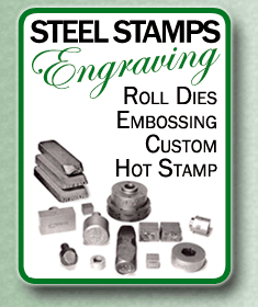 Steel Stamps, Roll Dies, Embossing, Custom Hot Stamp
