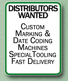 distributors wanted custom marking and date coding machines